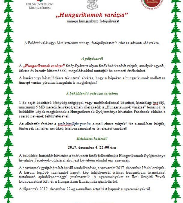 """""""Hungarikumok varázsa"""" – ünnepi hungarikum fotópályázat"""