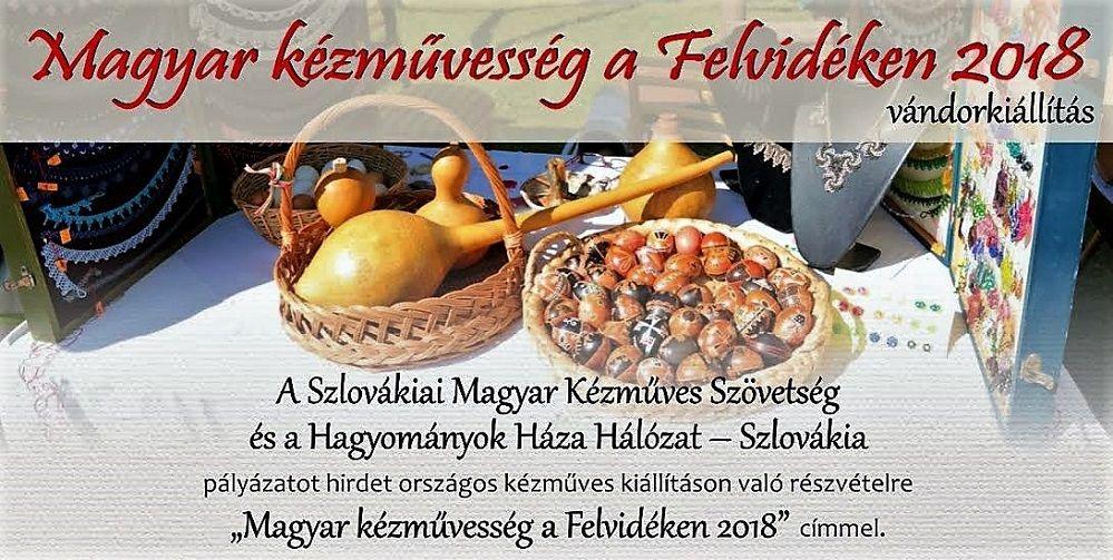 Magyar kézművesség a Felvidéken 2018