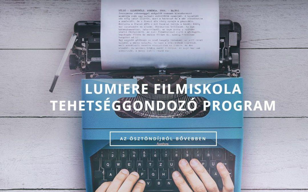 Lumiere Filmiskola Tehetséggondozó Program