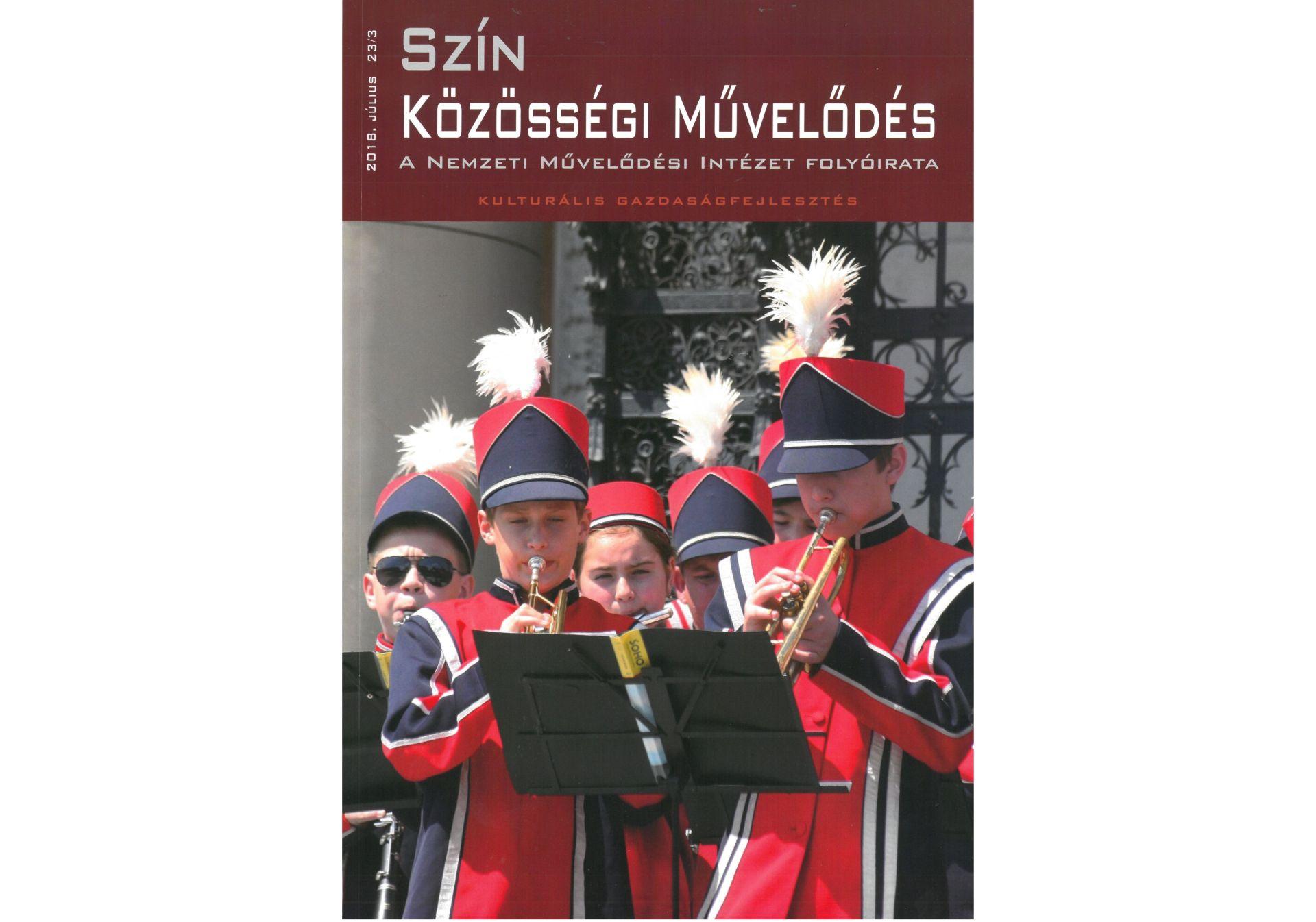 Kulturális gazdaságfejlesztésről szóló cikkek a Szín Közösségi Művelődés folyóiratban