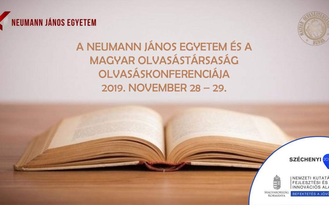 Neumann János Egyetem és a Magyar Olvasástársaság olvasáskonferenciát rendez
