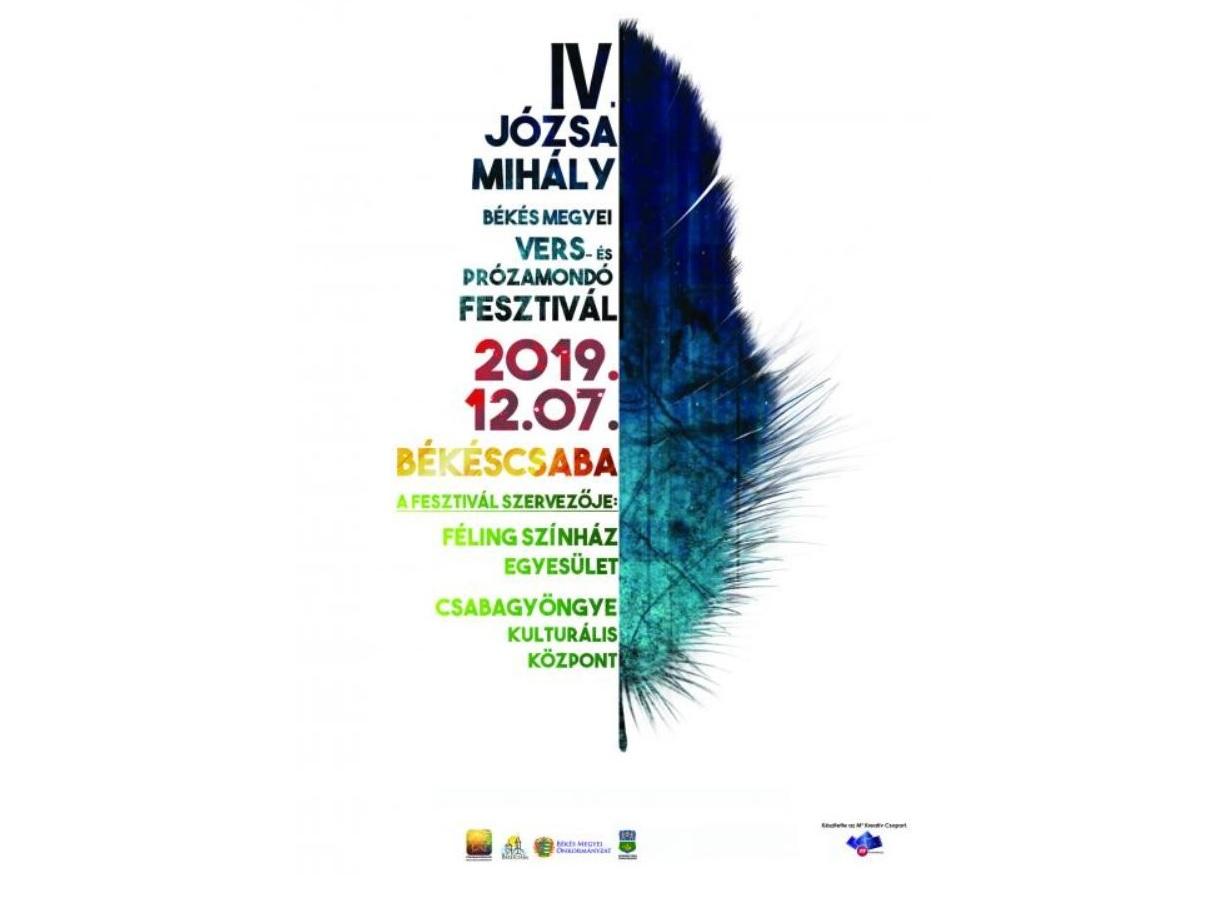 IV. Józsa Mihály Békés megyei Vers- és Prózamondó Fesztivál