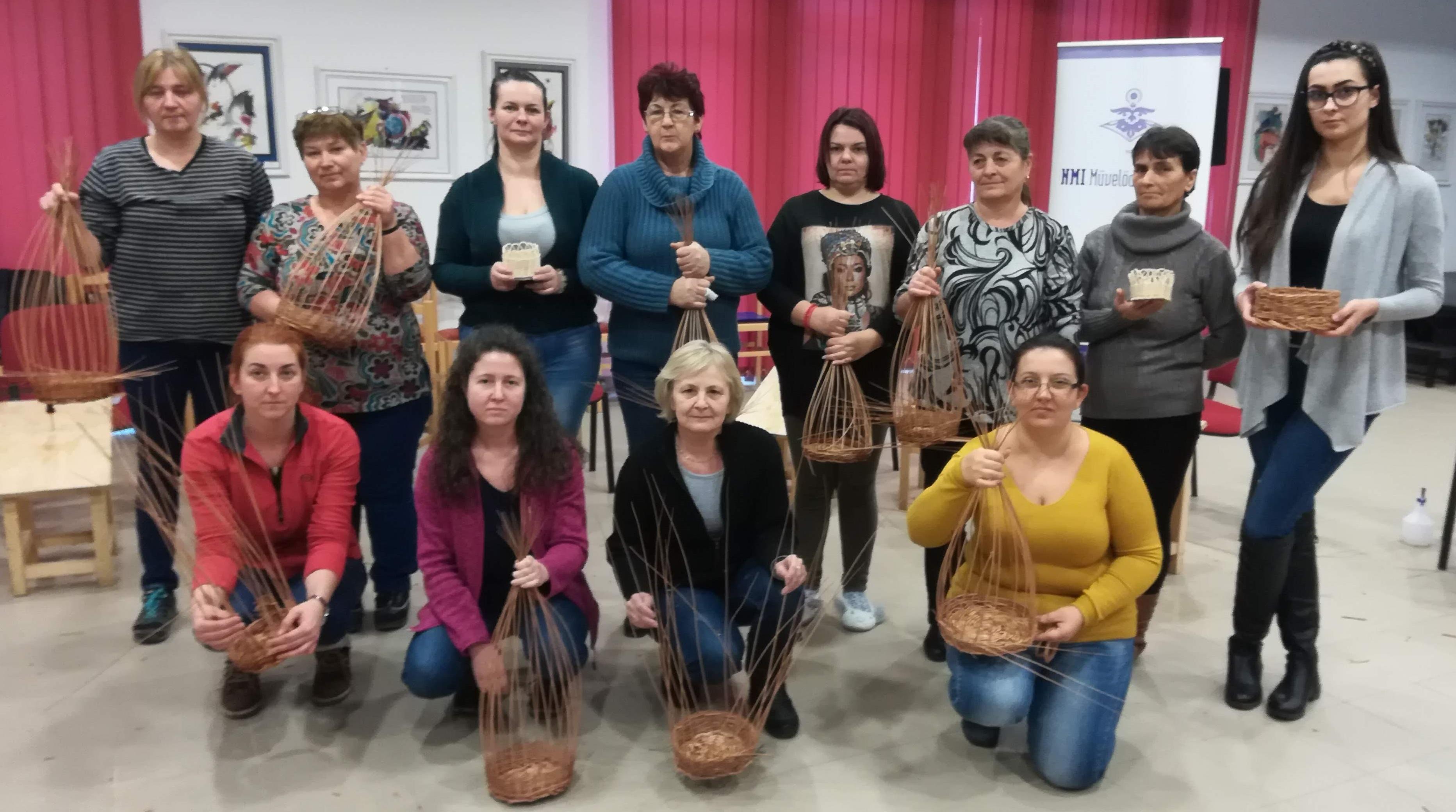 Kosárfonással zárult az Elfeledett szakmák, népi mesterségek visszatanítása Szabolcs-Szatmár-Bereg megyében
