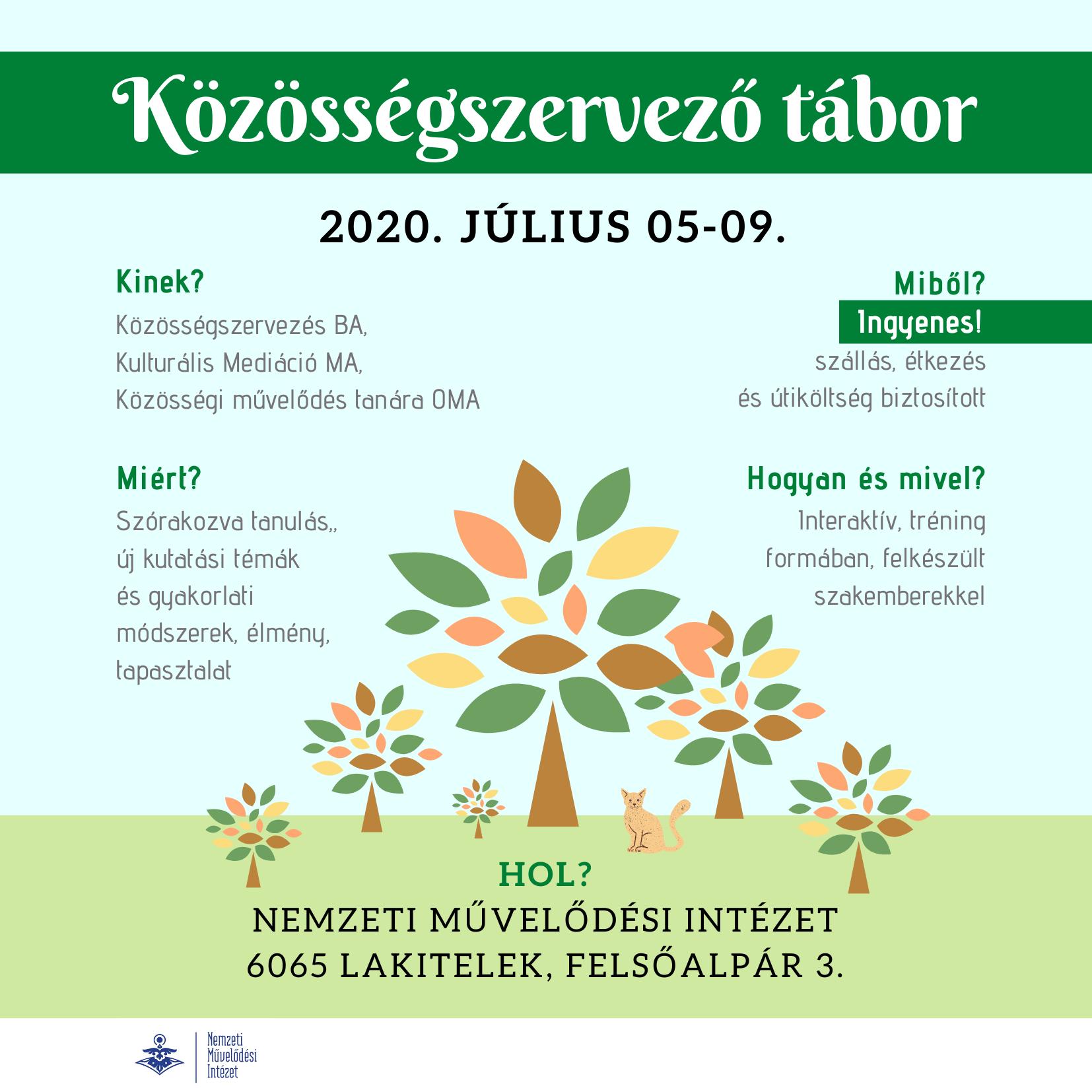 Közösségszervező nyári tábor 2020.