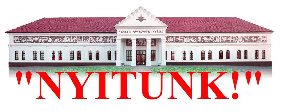 """""""NYITUNK!"""" Országos kiállítással és molinókampánnyal nyitnak a közművelődési intézmények"""